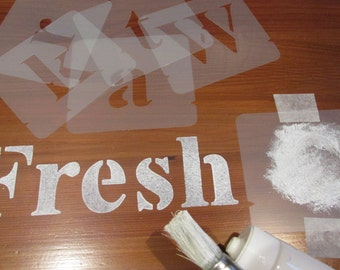 Alphabet Stencils Set, Choice of different sizes