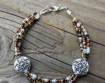 Brown Seed Bead Bracelet