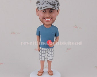 40th Birthday Gift for Men 40th Birthday Present for Husband Birthday Gift for Dad from Daughter Birthday Gift Idea Custom Bobblehead dolls