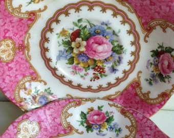 Royal Albert Lady Carlyle Saucers Bone China England