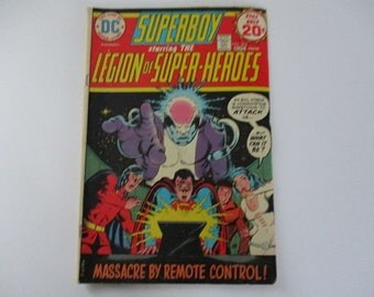 Vintage Superboy Comic with the Legoin Of Superheroes Vol 26 No 202 1974