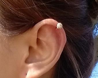 CZ Harp Piercing Earring