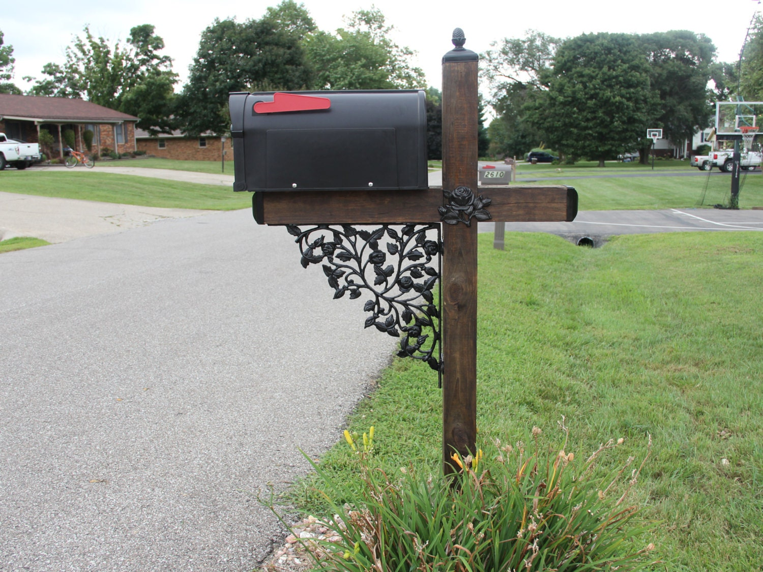wrought iron mailbox post pattern wrought iron mailbox post accessory set with 1666