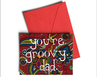 Groovy Dad Father's Day Card *PREORDER*