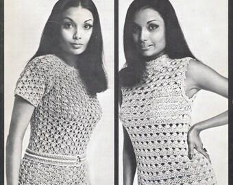 Vintage Retro Couture Crochet - Pantsuits - Instant Download PDF
