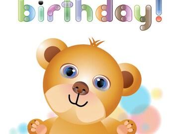 Babys Birthday card