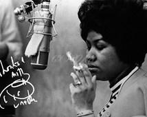 Aretha Franklin signed photo print - 12x8 inch - high quality -