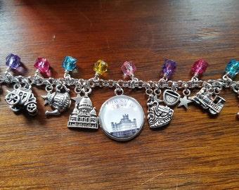 Downton abbey inspired charm bracelet