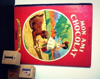 "Album illustrated vintage ""My friend chocolate"" 1953"