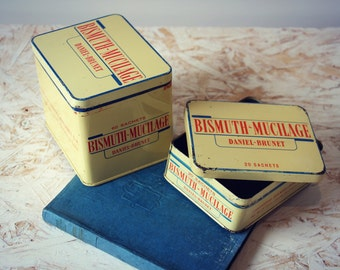 Using metal - boxes boxes sachets Bismuth Mucilage medicine - 2 boxes - France