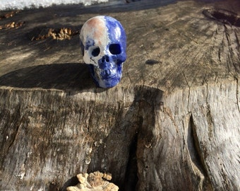Natural Sodalite Crystal Skull