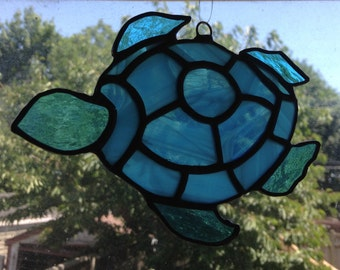 Stained Glass Turtle Suncatcher/Ornament