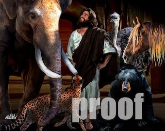 Jesus with animals
