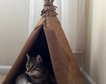 Suede Teepee for Cats or Small Dogs