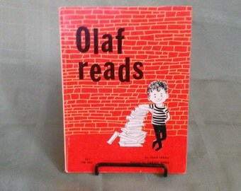 Olaf Reads vintage book 1961 by Joan Lexau Scholastic book 1960's