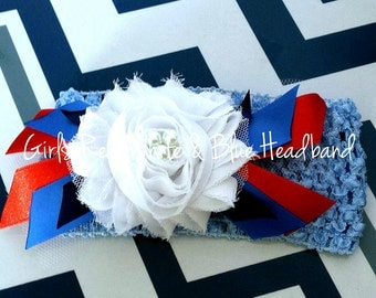 Girl's Red, White, Blue Headband