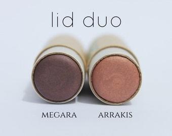 Non-Toxic Cream Eyeshadow Duo - all natural eyeshadow - organic eyeshadow - mineral eyeshadow
