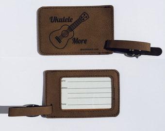 Ukulele - Ukulele case tag - Leather Ukulele case tag - Ukulele More - bag tag