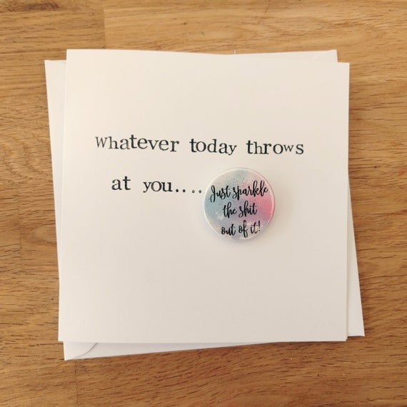 items similar to handmade funny encouragement card with