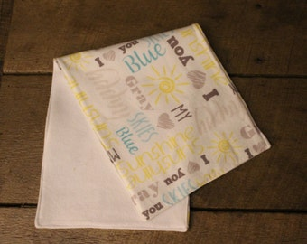 Burp Cloth- You Are My Sunshine