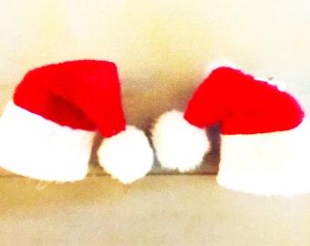 Santa Hat Earrings (Posts)