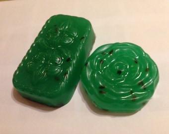 Green Lavender Flower Soap