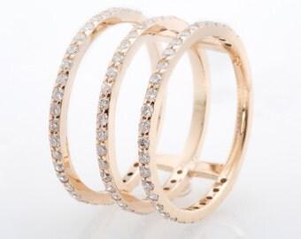 Three Tier Diamond Ring