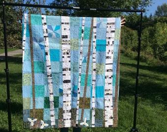 Birch Tree Quilt - Spring