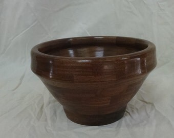 Segmented mesquite bowl