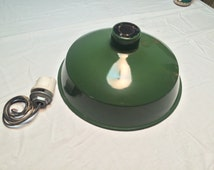 Vintage Green Westinghouse Porcelain Barn Light Shade in Near Mint Condition