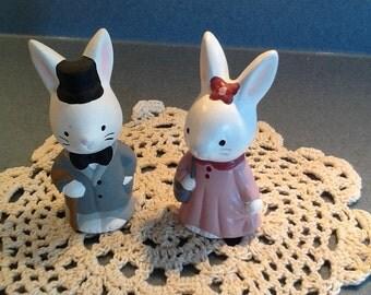 Mr. And Mrs. Bunny in ceramic 1997