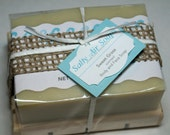 Sweet Grass scented Handmade Soap and Wooden Soap Plank