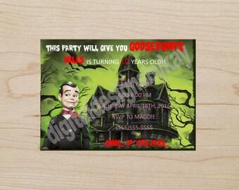 Goosebumps Birthday Party Invitation, Goosebumps, Goosebumps Birthday, Goosebumps Party, Goosebumps Invitation