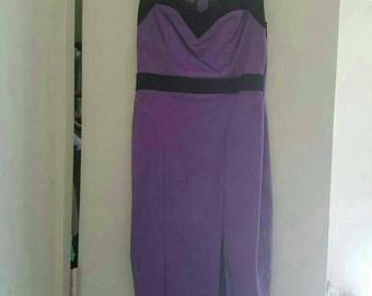 Purple Vintage Inspired Wiggle dress