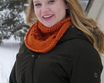 Crochet Cowl - Pumpkin