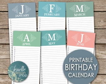 Printable perpetual etsy for Forever calendar template