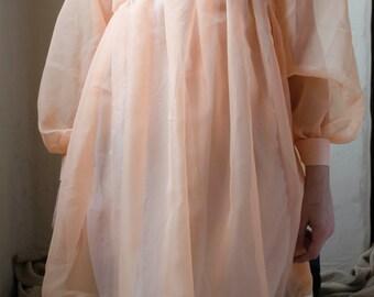 Baby ghost peach dress