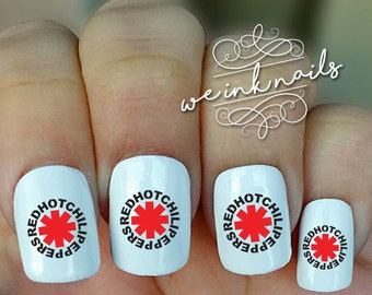 RED Hot CHILI PEPPERS-Water Slide Decals-Nail Decals-Nail Art