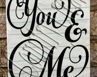 You and Me    SVG, PNG, JPEG