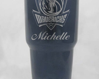 20 30 oz custom Dallas Mavericks RTIC or YETI silver blue black personalized