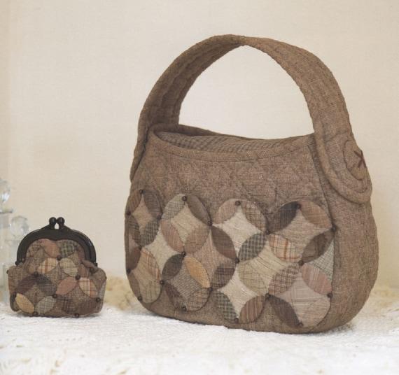 PDF Pattern Tutorial Shoulder bag handbag with coin purse