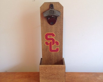 Wall Mounted Bottle Opener - Southern Cal Trojans