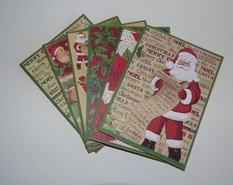 Christmas card set, Xmas card set of 6, Christmas holiday card set, Merry christmas card set, Merry xmas card set, Christmas holiday cards