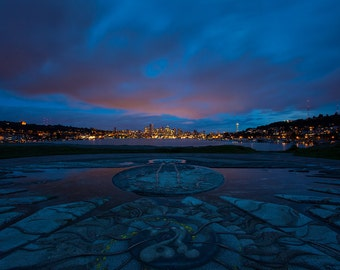 Gas Works at Night landscape photography print