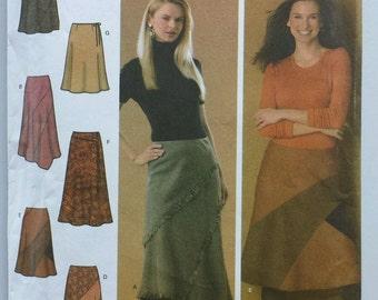 Simplicity 4966 sz HH 6-12 uncut women's skirt pattern 6 variations fringable