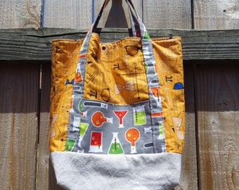 Slouchy Science Tote - chemistry - geek