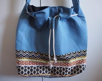 Animalista + Denim Bucket Bag