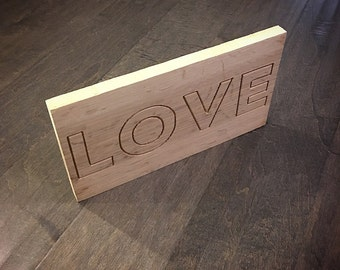 Wooden Carving LOVE