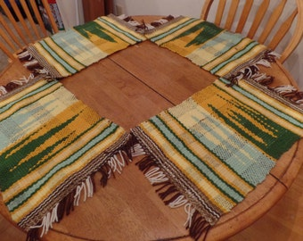 Loom Woven Placemats Set of 4