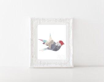 Dignified Watercolor Bird Print